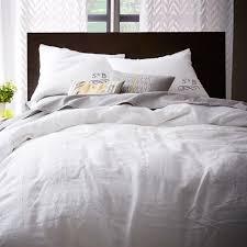 belgian flax linen duvet cover shams white west elm with regard to bedding ideas 3