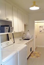 lighting for laundry room. featured customer flush mount lighting adds splash of yellow to laundry room for d
