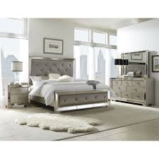 Mirror Bed Frame With Gray ...