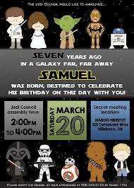 Star Wars Birthday Invitations Printable Star Wars Birthday Invitation Personalized For Your Party Digital
