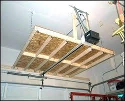 suspended garage shelves garage hanging