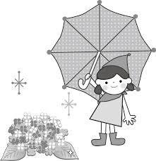 梅雨あじさい紫陽花のイラスト無料フリー素材