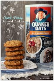 spiked holiday oatmeal cookies