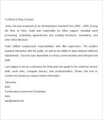 Letters Of Reference For A Job Recommendation Letter For Nurses Writing A Reference