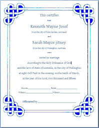 microsoft office certificate template wedding certificate template formal marriage certificate template