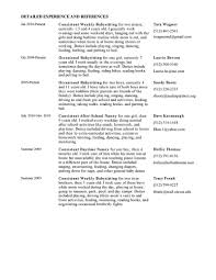 Baby Sitter Resume Sample New Nanny Resume Sample Sample Nanny