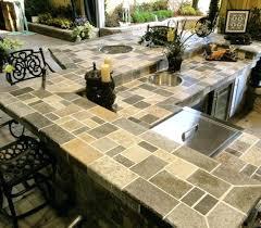 best countertop for outdoor kitchen best outdoor ideas stone countertop outdoor kitchen