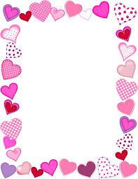 happy valentines day borders. Plain Borders Free Valentine Borders Printable Throughout Happy Valentines Day Borders L