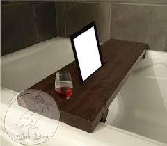 diy bath table fresh rustic bathtub caddy ipad wood bathtub tray bath shelf reclaimed