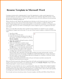 Template 10 Ms Word 2007 Resume Template Emails Sample Cv Templates