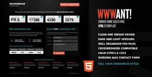 sale page template wwwant domain sales landing page html template by qbkl themeforest