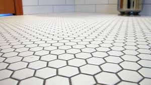 white hexagon tile floor