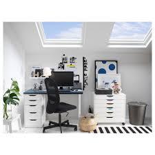 ikea computer desks small spaces home. Small Computer Desks For Spaces Home Decor Color With Beautiful Alex Drawer Unit White Ikea