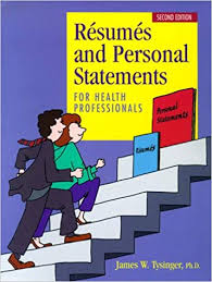 Resumes Personal Statements Resumes And Personal Statements For Health Professionals