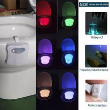 Battery Operated Dusk Till Dawn Light Hot 3d Tooth Lamp 8 Colors Led Toilet Nightlight Motion