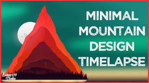 Graphic Design Timelapse Minimal Mountain Graphic Design Speed Art Timelapse Part 1
