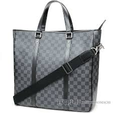 kaitorikomachi louis vuitton n51192 タダオダミエグラフィット 2way shoulder tote bag men length type black leather lv tadao damier graphite rakuten global