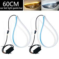 Cut To Length Led Lights 2pcs Waterproof Flexible Universal Car Led Drl Daytime