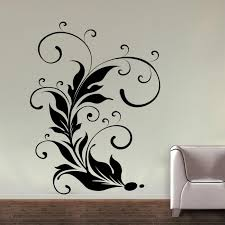 Small Picture Buy Decor Kafe Floral Design Wall Decal Online Best Prices in