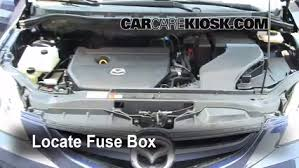 replace a fuse 2006 2010 mazda 5 2009 mazda 5 sport 2 3l 4 cyl 3 remove cover locate engine fuse box and remove cover