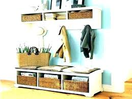 Hallway Storage Bench And Coat Rack