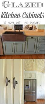 Glazed Kitchen Cupboard Doors How To Glaze Cabinets At Home With The Barkers
