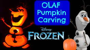 disney pumpkin carving kit. pumpkin carving olaf disney frozen ideas halloween - youtube kit