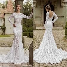 Lace Mermaid Wedding Dress Open Back Naf Dresses - Wedding Dress ...