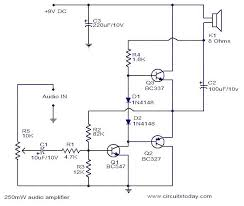 250mw audio amplifier electronic circuits and diagrams electronic 250mw audio amplifier circuit