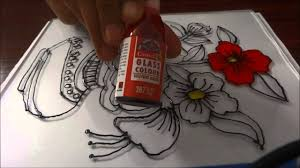 Beautiful Flower Designs For Glass Painting Glass Painting Step By Step Demonstration