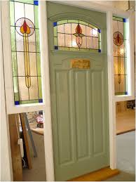 front doors side panels cozy 1930 s stained glass front doors