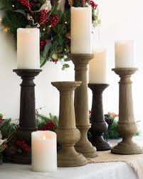 Faux Bois Candle Holders, Set of 3 by Balsam Hill
