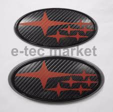 2015 subaru wrx logo. subaru sti wrx front u0026 rear carbon fiber black red badge emblem 2015 2016 2017 wrx logo