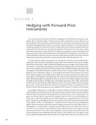 section hedging forward price instruments guidebook for  page 10