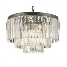 palladium 9 light crystal glass fringe chandelier