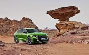 3840x2400 Green Car Off Road 2019 Audi Q8 Wallpaper Audi Audi Rs Sports Car Wallpaper