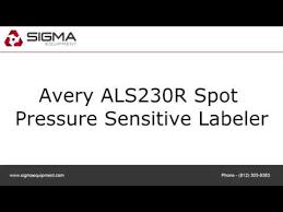 Avery 8383 Used Avery Als230r Spot Pressure Sensitive Labeler
