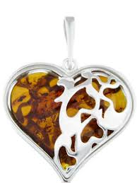 amber etc large silver heart pendant with baltic amber jewellery marketplace