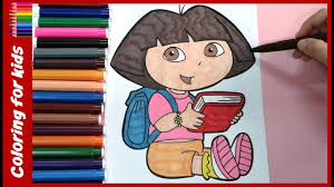 Dora The Explorer Coloring Book For