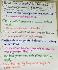 argument writing th grade humanities picture helpful sentence starters