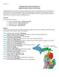 Michigan State University Extension Organizational Structure And