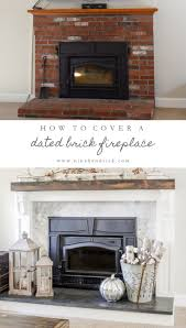 Renovate Brick Fireplace How To Cover Your Brick Fireplace Modern Farmhouse Style