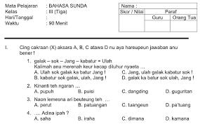 Artikel kali ini memuat soal latihan dan kunci jawaban kelas 7 smp mata pelajaran bahasan indonesia. Soal Bahasa Sunda Kelas 3 Sd Dan Jawabannya Guru Galeri