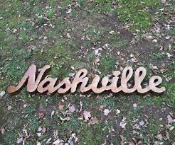 Nashville Sign Decor Metal 'Nashville' Sign L 100' W 100' H 1000' Decor Pinterest 4