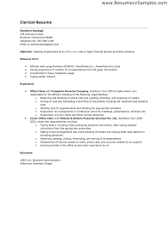 Sample Resume For Clerical Resume For Clerical Job clerical resume objectives clerical resume 25