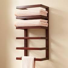 modern bathroom towel bars. Simple Wooden Modern Towel Bars Rack On Bathroom Wall: Large Size M
