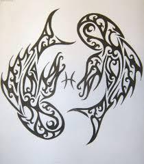 Zodiac Tattoo Designs Pisces Madscar Picture 2143 монохромная