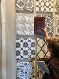 Bathroom Tile Displays Tile Shopping Master Bathroom Remodeling Fun Santa Cruz Design