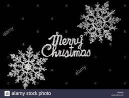 Black White Christmas Card Merry Stock Photos Black White