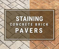 staining concrete pavers how to guide